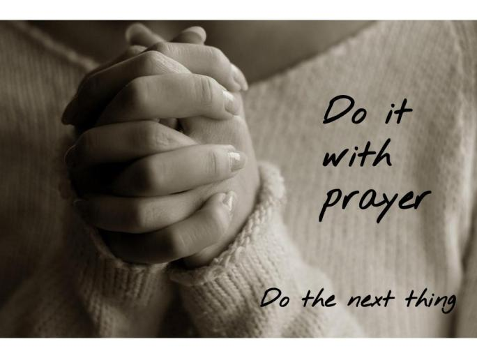 Do the Next Thing Prayer