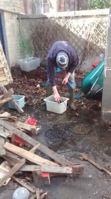 Using a handy tub