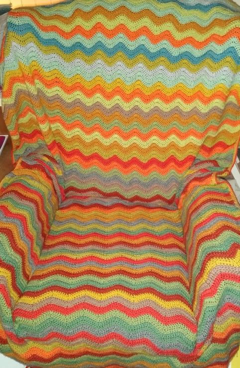 Woodland ripple blanket